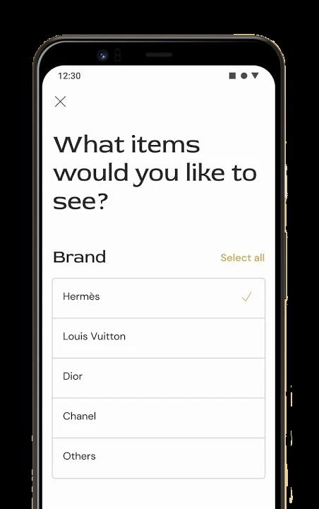 First Luxury App Screenshot